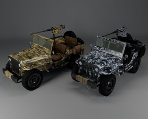 jeep army 3D model