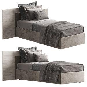3D novamobili time single bed model