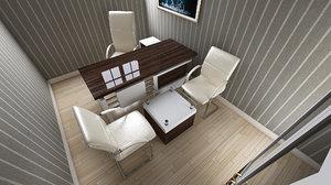 3D model interior design ganclik office