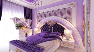 3D bedroom interior design neftchiler