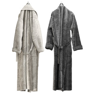 3D terry robes clothes