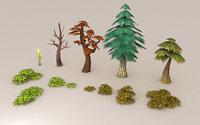 tree leafs fantasy 3D