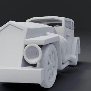 3D cartoon hotrod