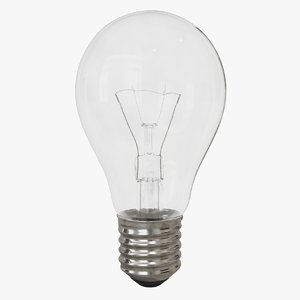 3D incandescent light bulb