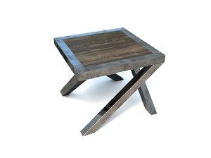 3D metal table