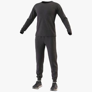 realistic sportswear suit clothing 3D model