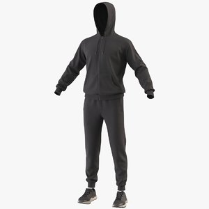 3D realistic sportswear suit clothing model
