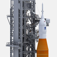 Space Launch System On Launchpad