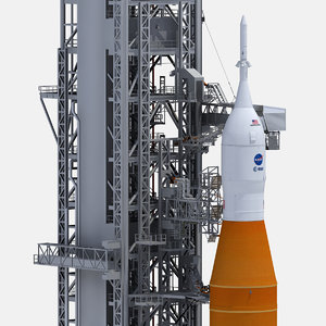space launch launchpad 3D model