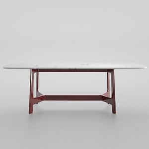 table red 3D model