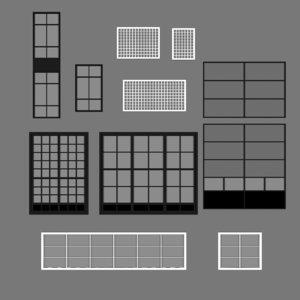 architecture windows 3D
