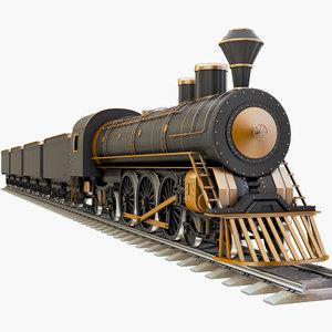 3D steam train