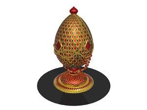 faberge egg 3D model