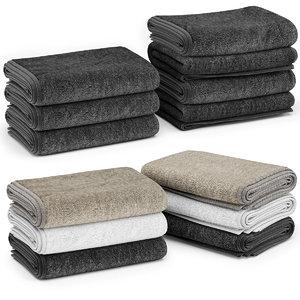 3D stacks towels