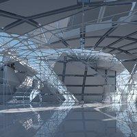 3D model Futuristic Architectural Interior 14