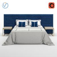 3D fendi pincio bed model