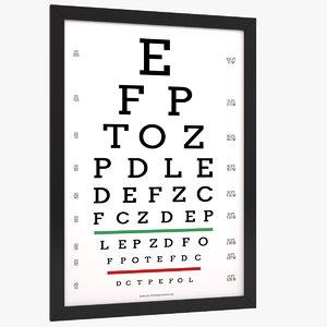 3D eye chart