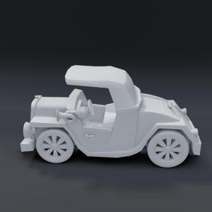 3D cartoon roadster
