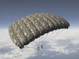 parachute pack - flight animation model