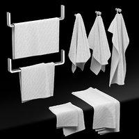 kitchen towels 3D model