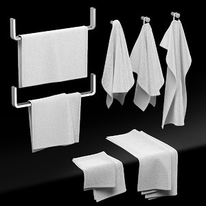 kitchen towels 3D model