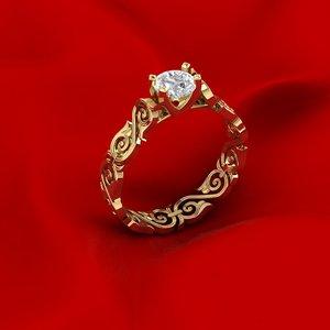 diamond ring ornament 3D model