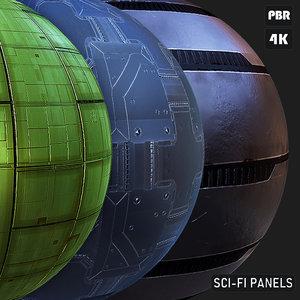 PBR Ski-Fi Panels textures