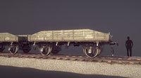 Armored Train JDP20TU Railway Platform 18T