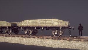 3D model armored train jdp20tu railway