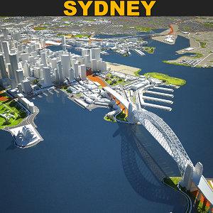 sydney skyline vol 2 3D model