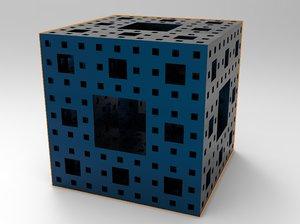 menger sponge cube model