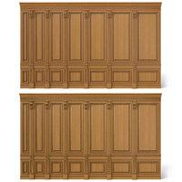 wooden panels wood wall 3D