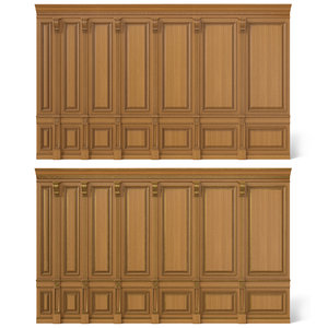 wooden panels wood wall 3D