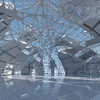 Futuristic Architectural Interior 15