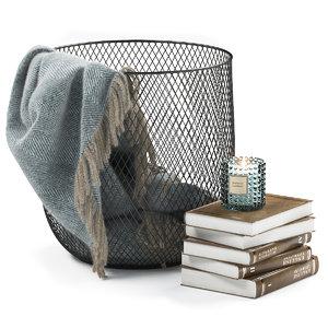 3D metal basket decor