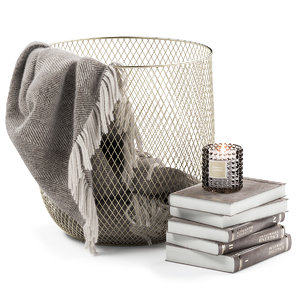 3D metal basket decor model
