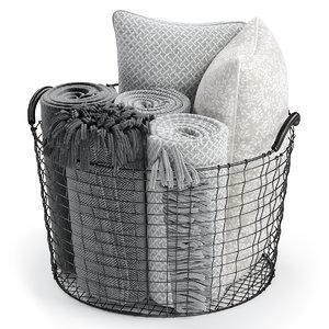 wire basket decor model