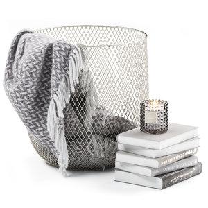 metal basket decor model