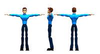 man boy gaming 3D model