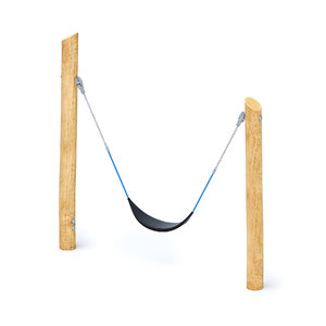 3D single wooden swing model