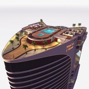 3D hotel designed building model