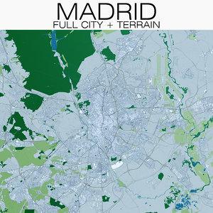 madrid city terrain model