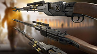 rifle mandalorian 3D model