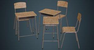 school desk chair 1b model
