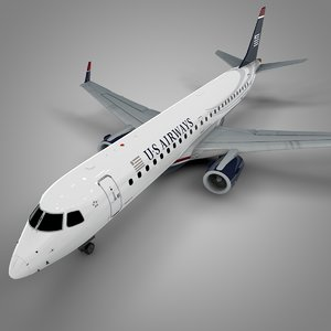 airways embraer190 l592 3D model