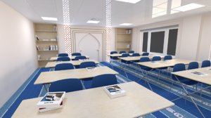3D model arabic islamic classroom school