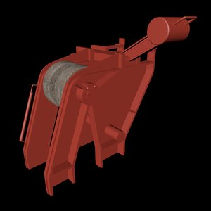 anchor cable compressor 3D model
