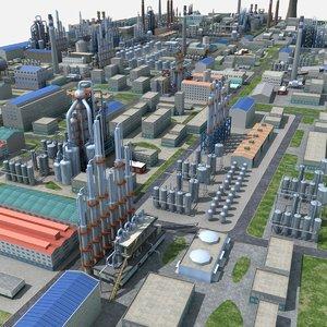 chemical plant 3D model