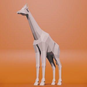 giraffe blender 3D