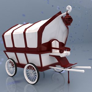 classic horse carriage 3D model
